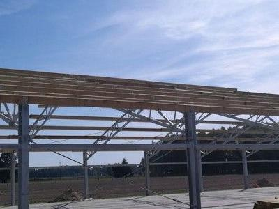 Budowa konstrukcji stalowej obornika 3