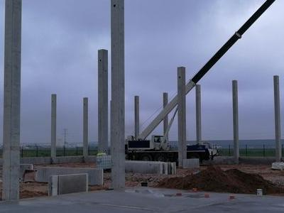 Budowa hali w Plewiskach 19