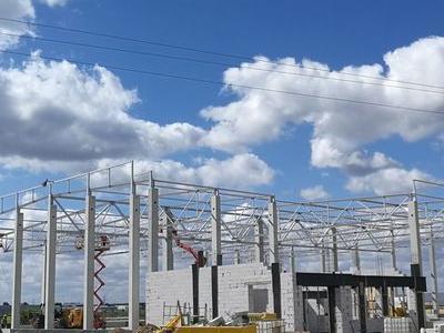 Budowa hali w Plewiskach 14
